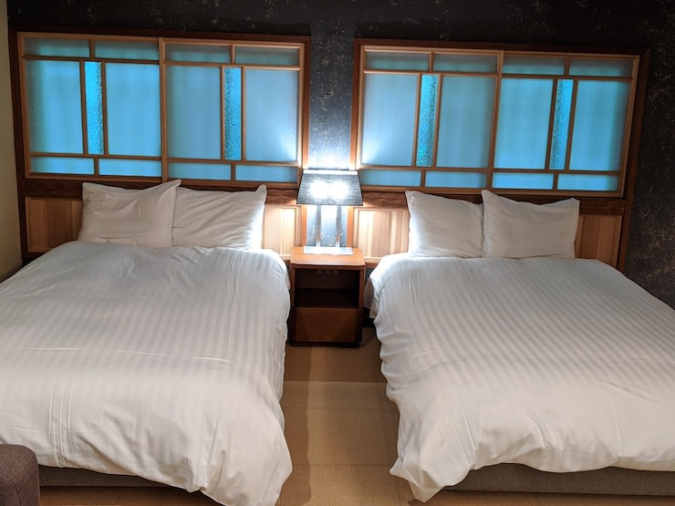 ベッドタイプのお部屋もあります