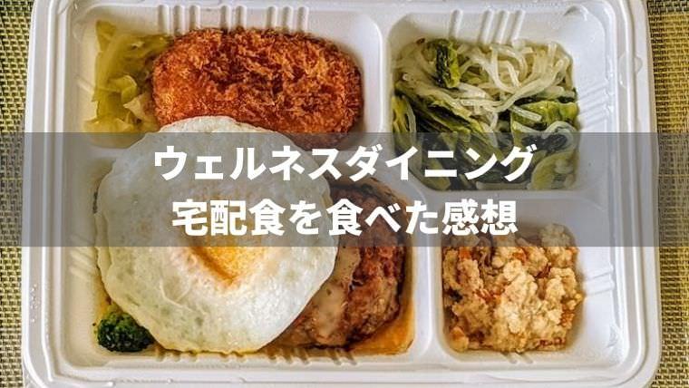 ウェルネスダイニングの宅配食 (弁当/料理キット) を実食レビュー!