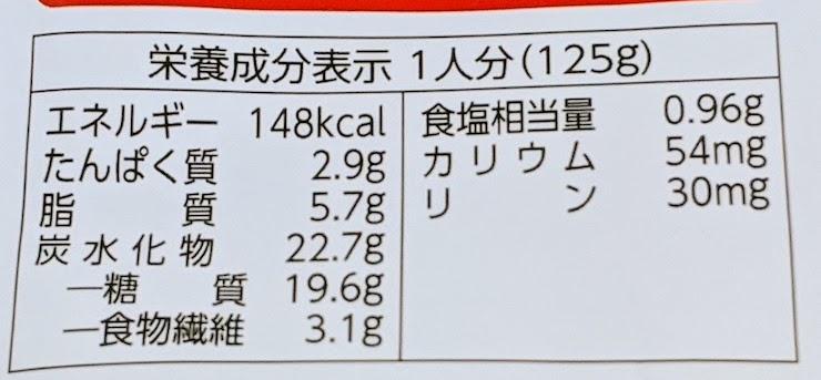 低たんぱくミート入り麻婆豆腐丼の栄養成分表示
