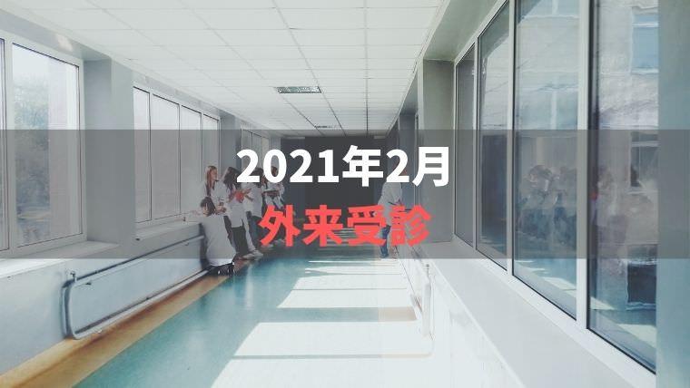 2021年2月外来受診【1日のたんぱく質摂取の配分】