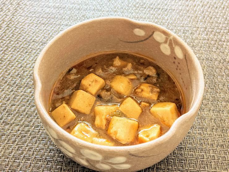 思ったより本格的な麻婆豆腐です