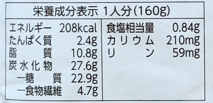 低たんぱくミート入りキーマカレー 栄養成分表示