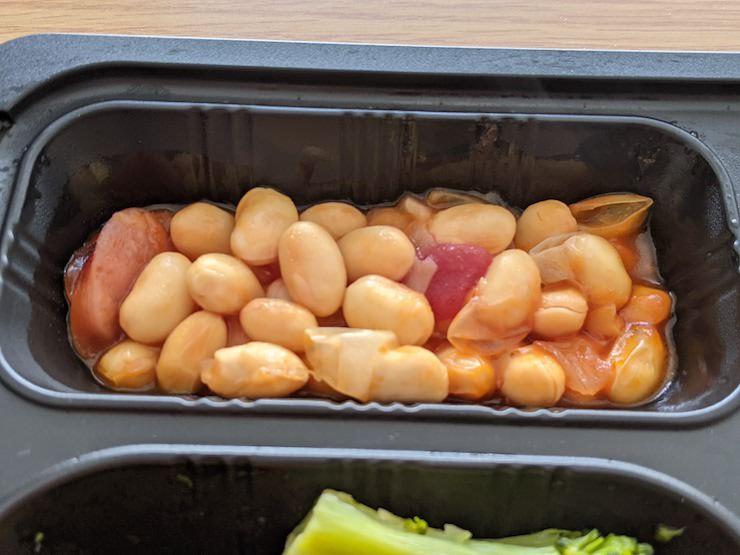 大豆とソーセージのトマト煮込み