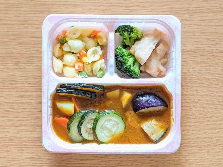 グリルドチキンと夏野菜カレーセット